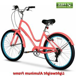 26 inch Hyper Commute Ladies Comfort Bike with 7-Speed Shima