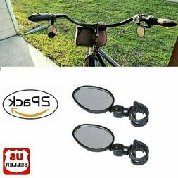 2x Mountain Glass Mirror Adjustable fits Hybrid MTB Recumben