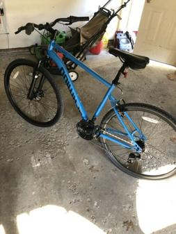 700c copeland men s hybrid bike blue