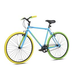 Kent 700C Men's Ridgeland Hybrid Bike, Blue/Green