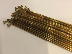 Bicycle Spokes 14G Steel - GOLD