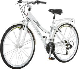Schwinn Discover Women's Hybrid Bike ,White, 16 in Frame