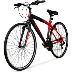 Hybrid Fitness Bike Aluminum Frame Men Sport City Bicycle Sh