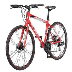 Hybrid Mens Mountain Bike 700c Schwinn Kempo 21 Speed Red Ro
