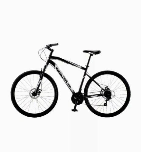 700c glenwood mens hybrid bike black