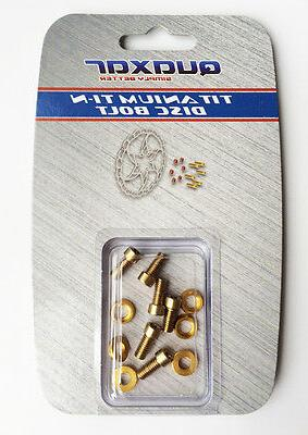 Gold Bolts Washer Screws Alloy