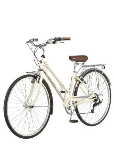 womens gateway 700c 28 hybrid bike cream