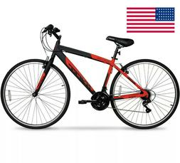 NEW Hyper Bicycles Hyper 700c Men's SpinFit Hybrid Bike, Bla